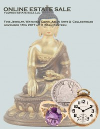 ABSOLUTE ONLINE ESTATE SALE AUCTION - Jewelry, Coins, Collectibles, Asian, Silver, Art