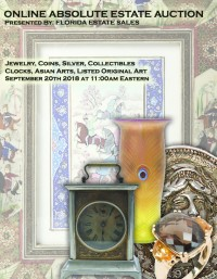 ABSOLUTE ONLINE ESTATE SALE AUCTION - Fine Jewelry, Silver, Clocks, Art, Coins, Collectibles